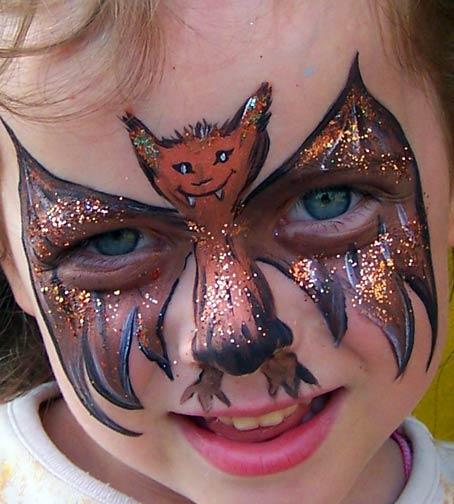 Kinderschminken bildergalerie 7 - Fledermaus schminken ...